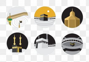 Islamic Architecture - Kaaba Great Mosque Of Mecca Hajj Euclidean Vector PNG