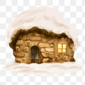 Cartoon Snow House - House Igloo Immeuble Snow PNG