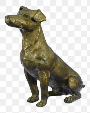 Bronze Sculpture Dog Breed Jack Russell Terrier Statue PNG