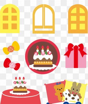 Creative Gift Cake Windows - Cake Cartoon PNG