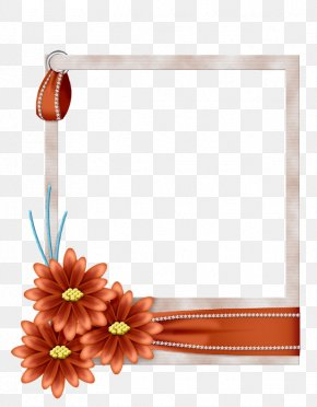 Flower - Picture Frames Blue Borders And Frames Flower PNG