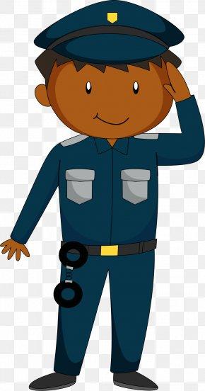 Cartoon Guards Salute - Salute Police Officer Cartoon PNG