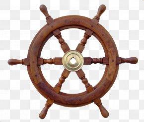 Rudder Steering Wheel - Ships Wheel Ship Model Maritime Transport PNG