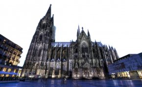 Cologne Cathedral Night View - Cologne Cathedral Piazza Navona Church Architecture PNG