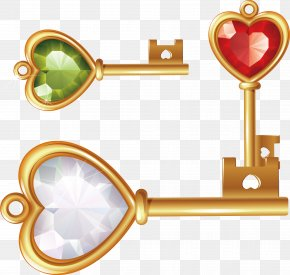 Diamond Gold Key - Diamond Gold Euclidean Vector Icon PNG