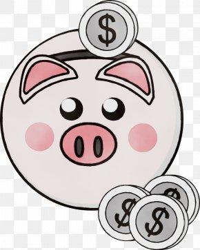 Cheek Snout - Pink Cartoon Nose Head Clip Art PNG