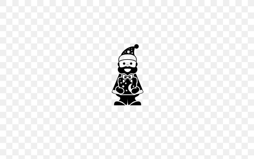 Santa Claus, PNG, 512x512px, Santa Claus, Black, Black And White, Character, Christmas Download Free