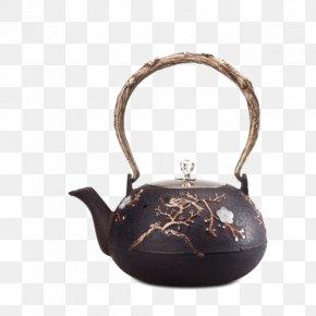 Cast Iron TeapotVery Happy Iron Kettle - Teapot Cast Iron Cast-iron Cookware Metal PNG