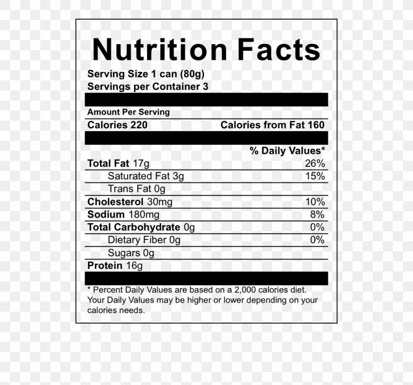 Oolong White Tea Nutrition Facts Label