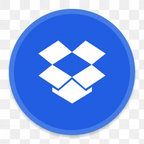 DropBox - Blue Computer Icon Area Symbol PNG