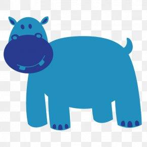 Animal Graphics - Hippopotamus Colorful Animals Clip Art PNG