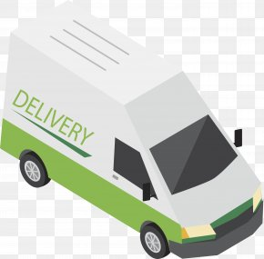 Green Express Truck - Van Transport Logistics Courier Delivery PNG