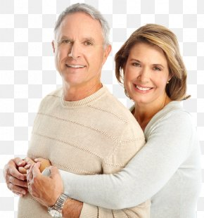 Couple - Old Age Couple Child Love Dentist PNG