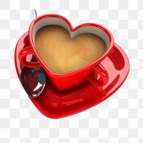 Red Love Heart - Teacup Coffee Cup Teacup PNG