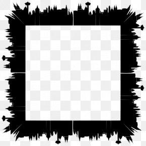 Blackandwhite Plant - Background Black Frame PNG