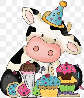 Cute Cow - Birthday Wish Greeting Card Happiness Gift PNG