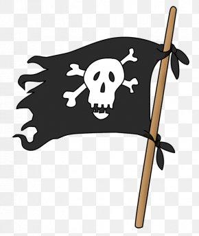 Pirate Flag - Skull & Bones Piracy Jolly Roger Clip Art PNG