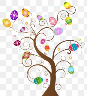 NOROZ - Easter Egg Tree Clip Art PNG