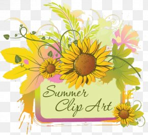 Summer Summer Cliparts - Flower Wedding Invitation Clip Art PNG