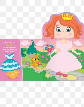 Dressing Up - My Dress Up Princess Paperback Cartoon Book PNG