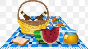 Cookout Time - Picnic Baskets Vector Graphics Image Food PNG