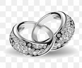 Textured Diamond Platinum Ring - Engagement Ring Wedding Ring Clip Art PNG