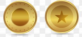 Vector Hand Painted Gold Coins - Gold Coin PNG
