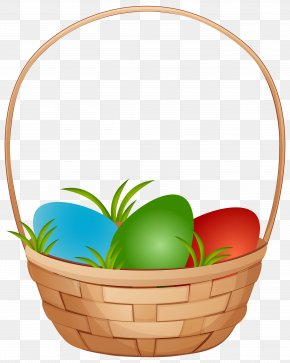 Easter Basket With Eggs Clip Art Image - Easter Basket Easter Egg Clip Art PNG