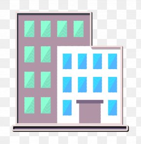 Rectangle School Education Icon - Town Icon Building Icon School & Education Icon PNG