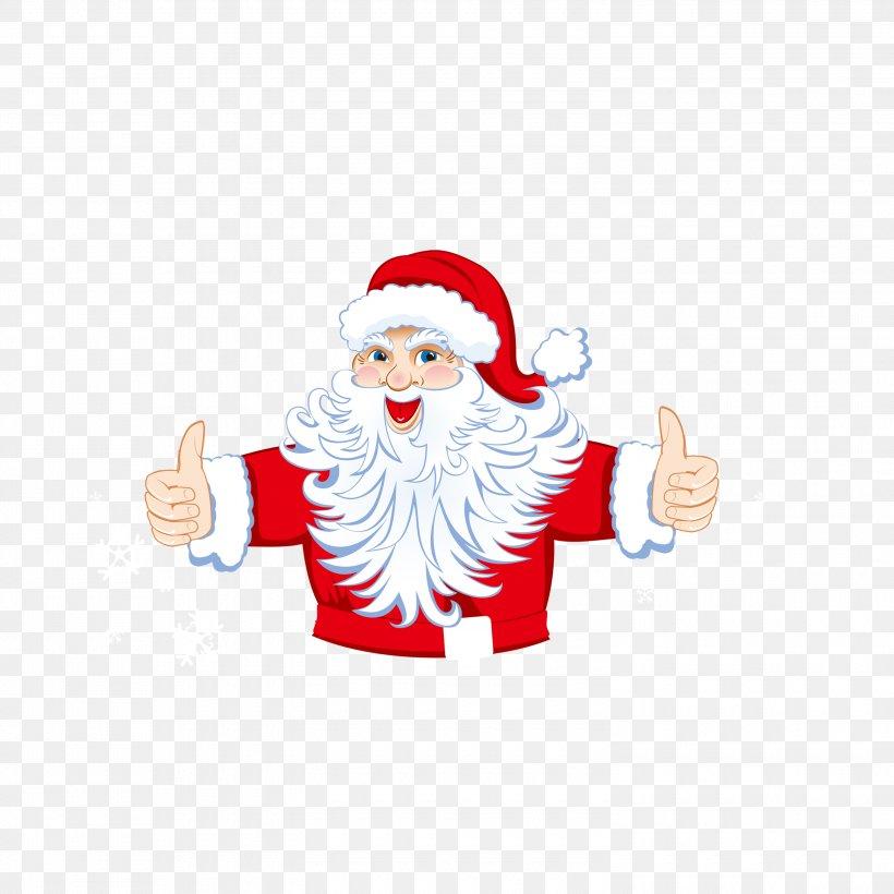 Santa Claus's Reindeer Christmas North Pole Clip Art, PNG, 3000x3000px, Santa Claus, Christmas, Christmas And Holiday Season, Christmas Decoration, Christmas Ornament Download Free