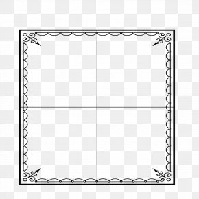 Field Frame Pattern - Black And White Square Area Pattern PNG