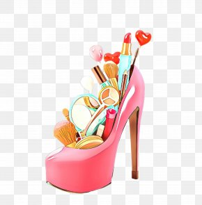 Basic Pump Leg - Footwear High Heels Pink Sandal Shoe PNG
