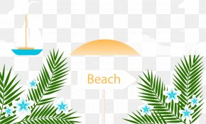 Palm Tree Beach Summer Vacation - Beach Summer Vacation PNG