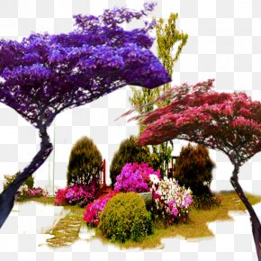 Color Garden Trees In Kind PNG