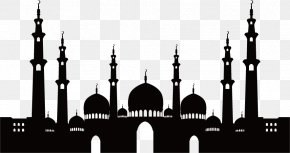 Mosque Silhouette Material - Mosque Islamic Architecture PNG