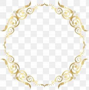 Border Frame Golden Transparent Clip Art - Picture Frame Gold PNG