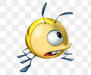 Kids Playing Games - Best Fiends Honey Bee Video Game PNG