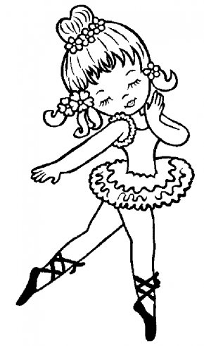 Baby Cheetah Cartoon - Ballet Dancer Coloring Book PNG