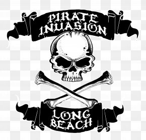 Long Beach - Piracy Jolly Roger Treasure Long Beach Logo PNG
