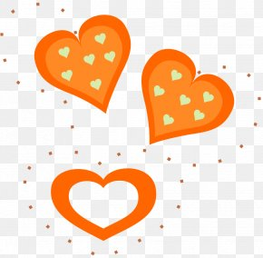 Orange Heart Cliparts - Heart Valentine's Day Clip Art PNG