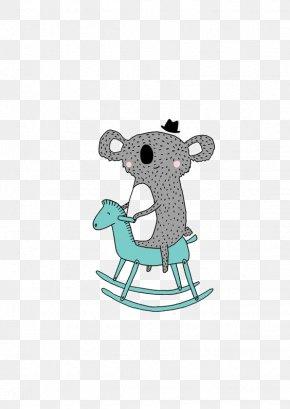Play Koala - Koala Horse Toy Illustration PNG