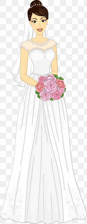 Aline Victorian Fashion - Bouquet Of Flowers Drawing PNG