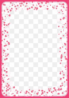 Pink Heart-shaped Frame - Love Valentine's Day Heart PNG