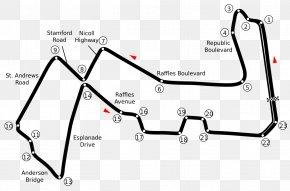 Singapur - Marina Bay Street Circuit Singapore Grand Prix 2018 FIA Formula One World Championship Baku City Circuit Race Track PNG