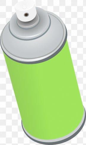 Paint Sprayer Cliparts - Aerosol Spray Aerosol Paint Spray Painting Green PNG