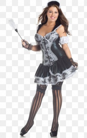 Dress - Halloween Costume Party City French Maid Dress PNG