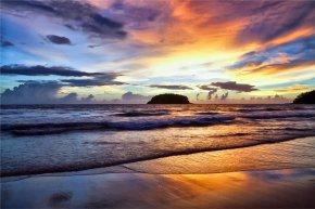 Sunset Beach Cliparts - Samara Beach Sunset Clip Art PNG