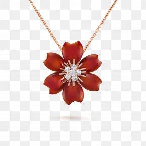 Jewellery Model - Van Cleef & Arpels Charms & Pendants Ruby Necklace Jewellery PNG