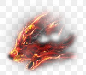 Creative Fire Wolf PNG