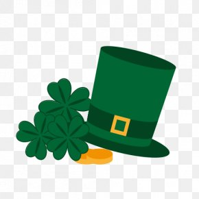 Happy St. Patrick's Day - Saint Patrick's Day Shamrock Symbol Holiday Clip Art PNG